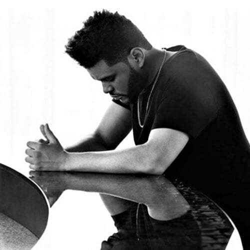 The Weeknd with Clean Flattop