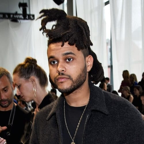 The Weeknd Messy Dreadlocks Hair
