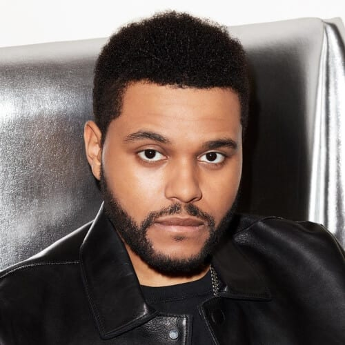 The Weeknd with Mini Afro Hair