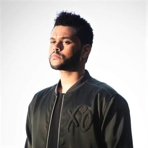 The Weeknd with Shape Up Hairstyle