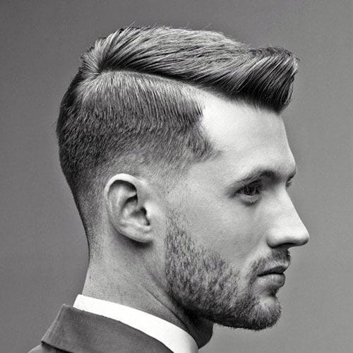 Understated, Subtle Gelled Faux Hawk with Longer Sides