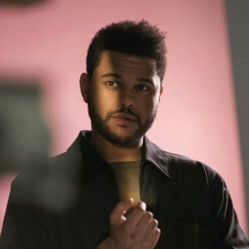 The Weeknd with Textured Quiff