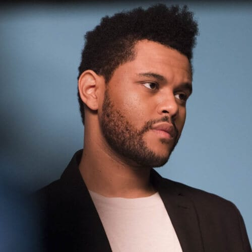 The Weeknd Hair with Faux Hawk