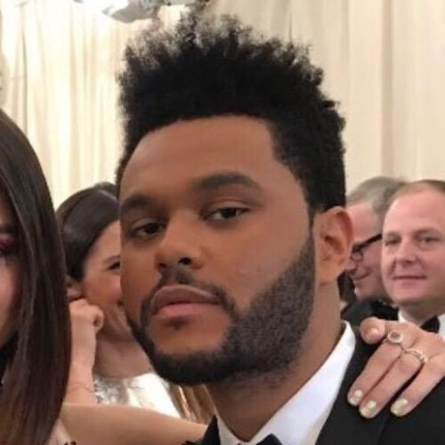 The Weeknd Hair with Frizzy Flattop