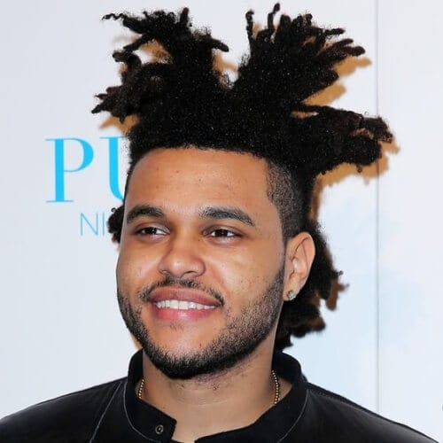 The Weeknd Hair with Sectioned Styling