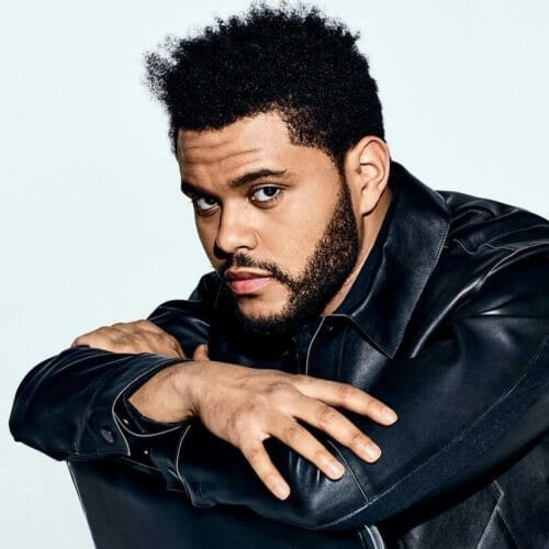 The Weeknd Hair with Untamed Afro