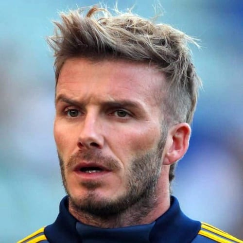 david beckham faux hawk hairstyle