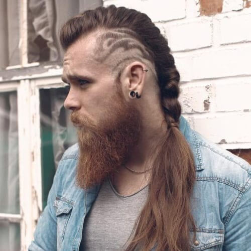 Viking Hairstyles with Hair Tattoos