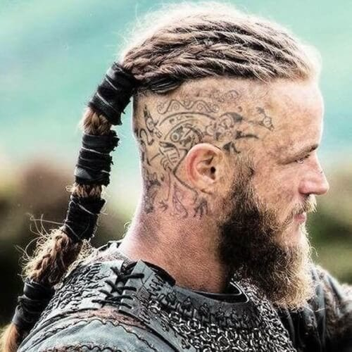 Viking Hairstyles with Head Tattoos
