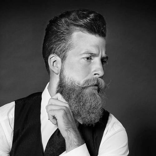beard modern pompadour