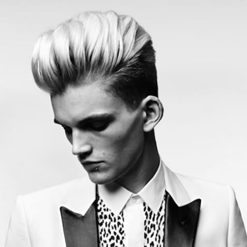 beautiful modern pompadour