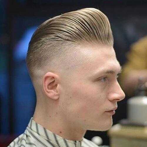 blonde modern pompadour