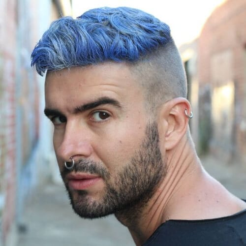 blue disconnected undercut