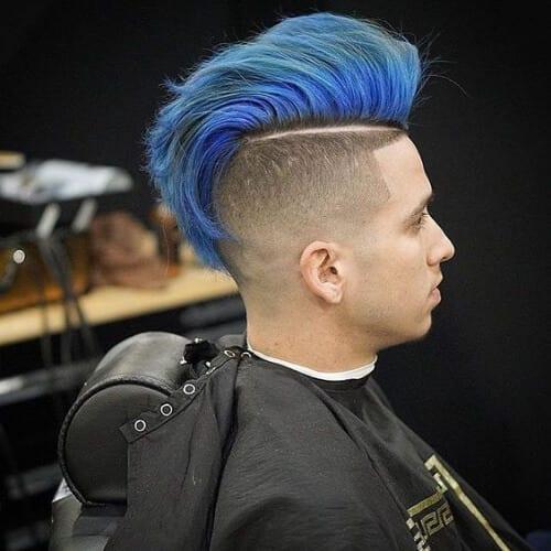 blue modern pompadour