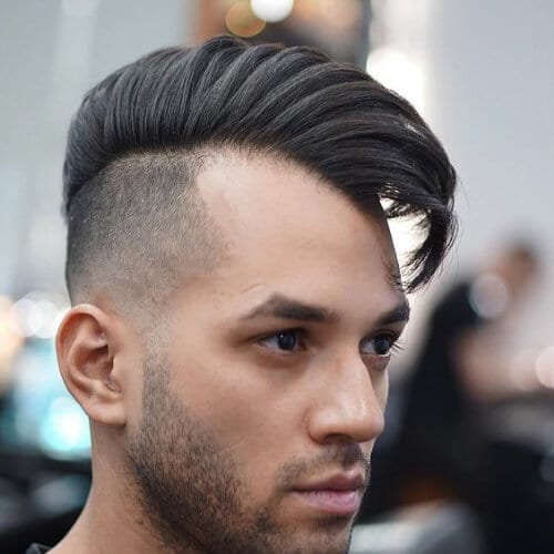 comb over disconnected haircut