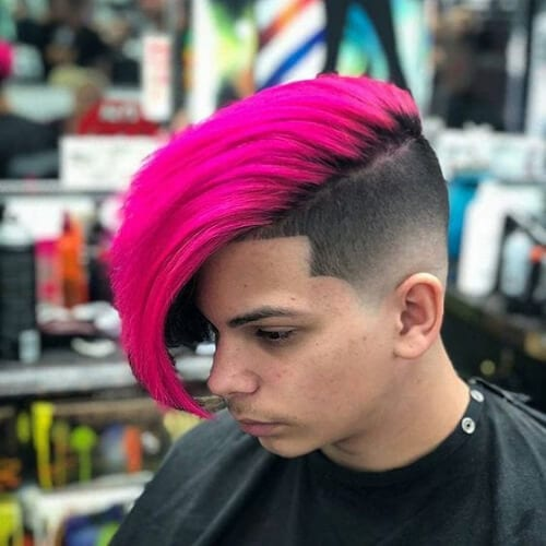 magenta disconencted undercut
