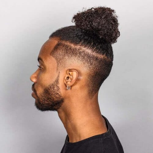 man bun disconnected undercut