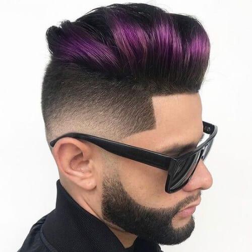 purple modern pompadour