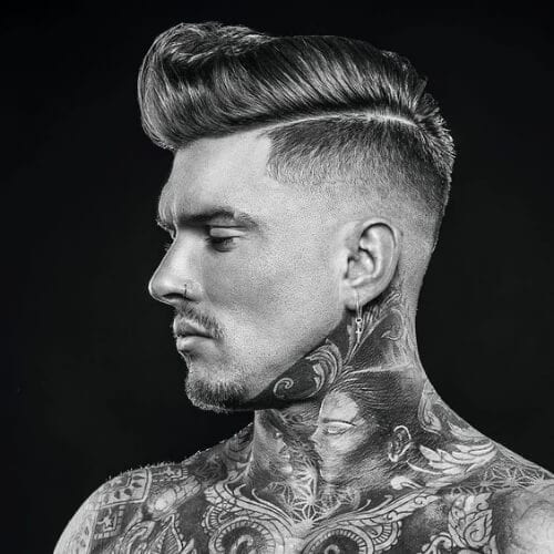 side part modern pompadour
