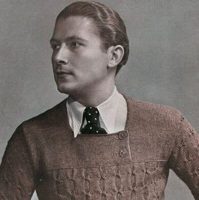 1930s mens catalogue cover- sweater 1930 mens hairstyles