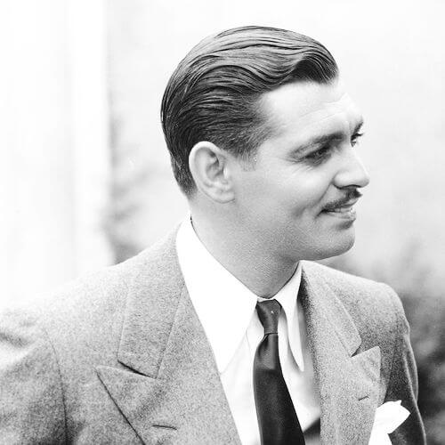 "Clark Gable during the filming of ""Manhattan Melodrama"", 1934 1930s mens hairstyles images"