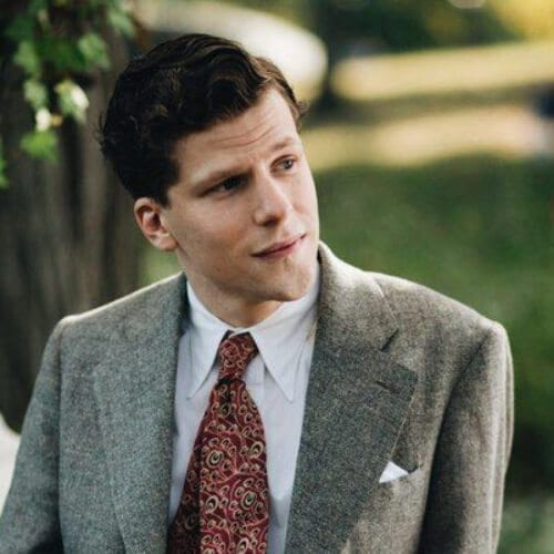 Jesse Eisenberg cafe society 1930s mens hairstyles