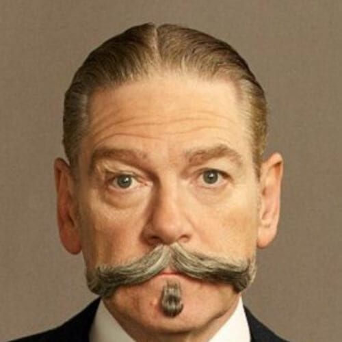 Kenneth Branagh in Murder on the Orient Express (2017) 1930s mens hairstyles