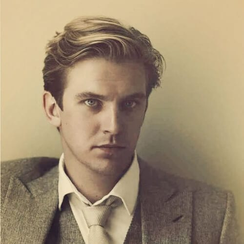 downton abbey dan stevens 1930s mens hairstyles