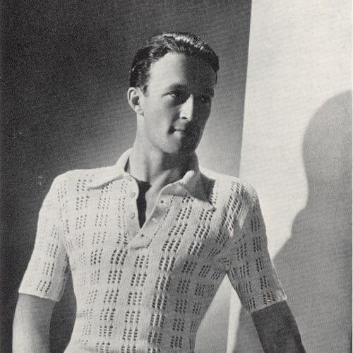 tennis shirt cool, open stitch 1930s mens hairstyles