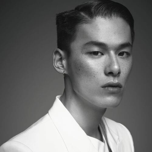 2014.05, Harper's Bazaar, Kim Won Joong geometrical korean men haircut