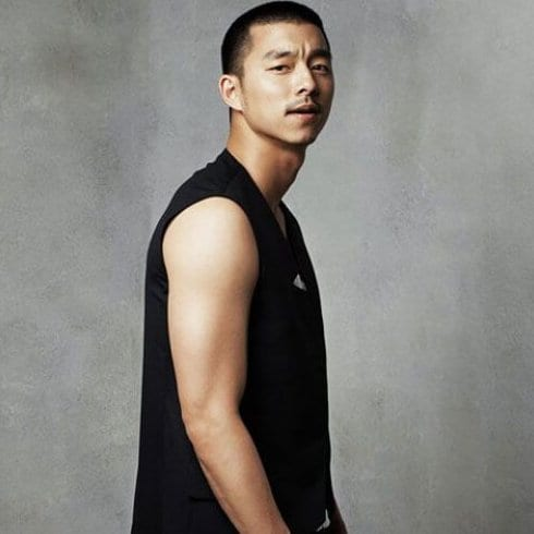 Korean actor Gong Yoo buzz cut korean men haircut