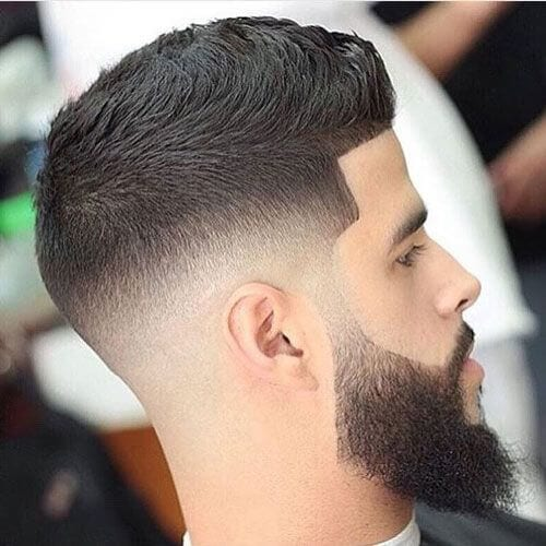 Low Skin Fade with Beard bald fade with beard