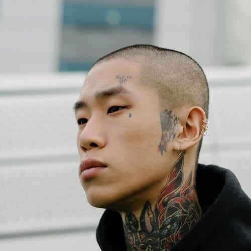 edgy korean men haircut