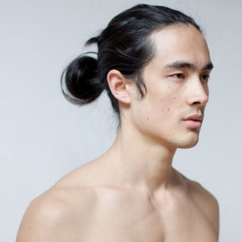 low bun korean men haircut