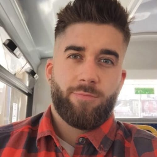 lumberjack bald fade with beard