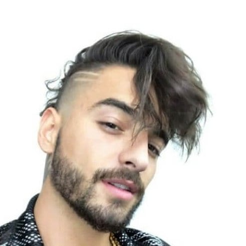 maluma bald fade with beard