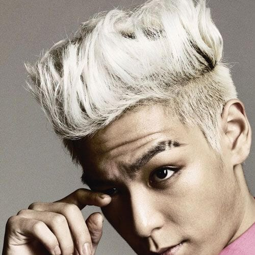 platinum korean men haircut