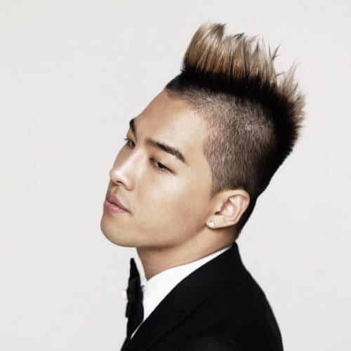 spiky korean men haircut