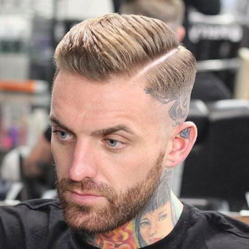 tattoo bald fade with beard