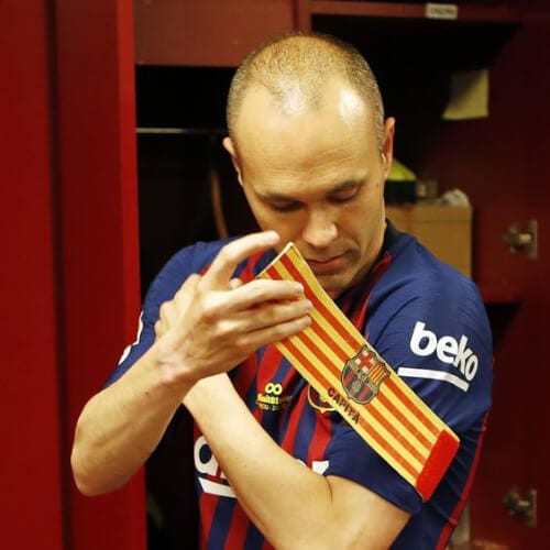 Andres Iniesta soccer player haircuts