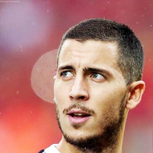 Eden Hazard soccer player haircuts