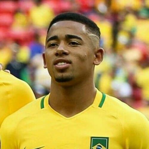 Gabriel Jesus soccer player haircuts
