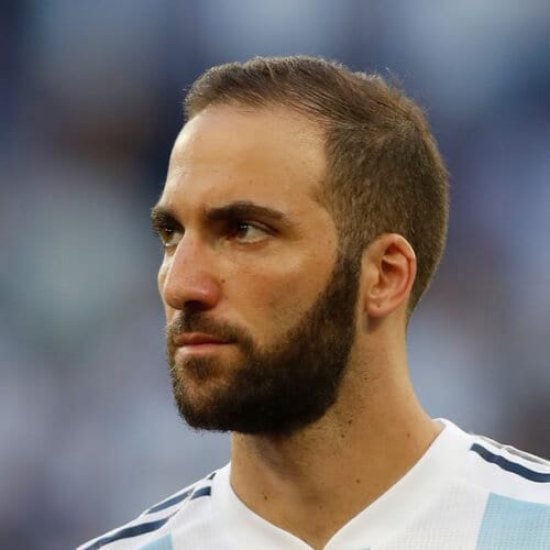 Gonzalo Higuain soccer player haircuts