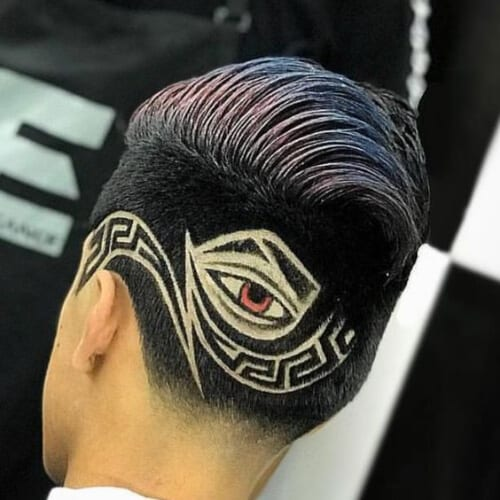 eye hair designs for men