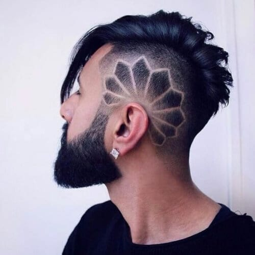 fancy hair designs for men
