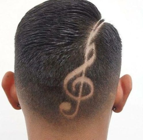 music hair designs for men