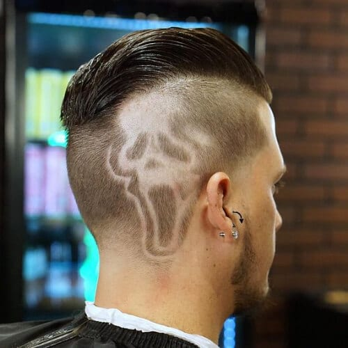 scream hair designs for men