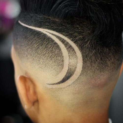simple hair designs for men