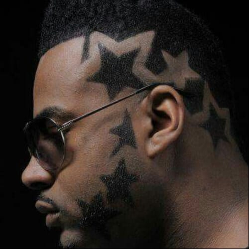 star beard hair designs for men