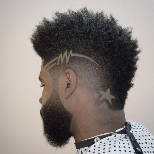 star hair designs for men